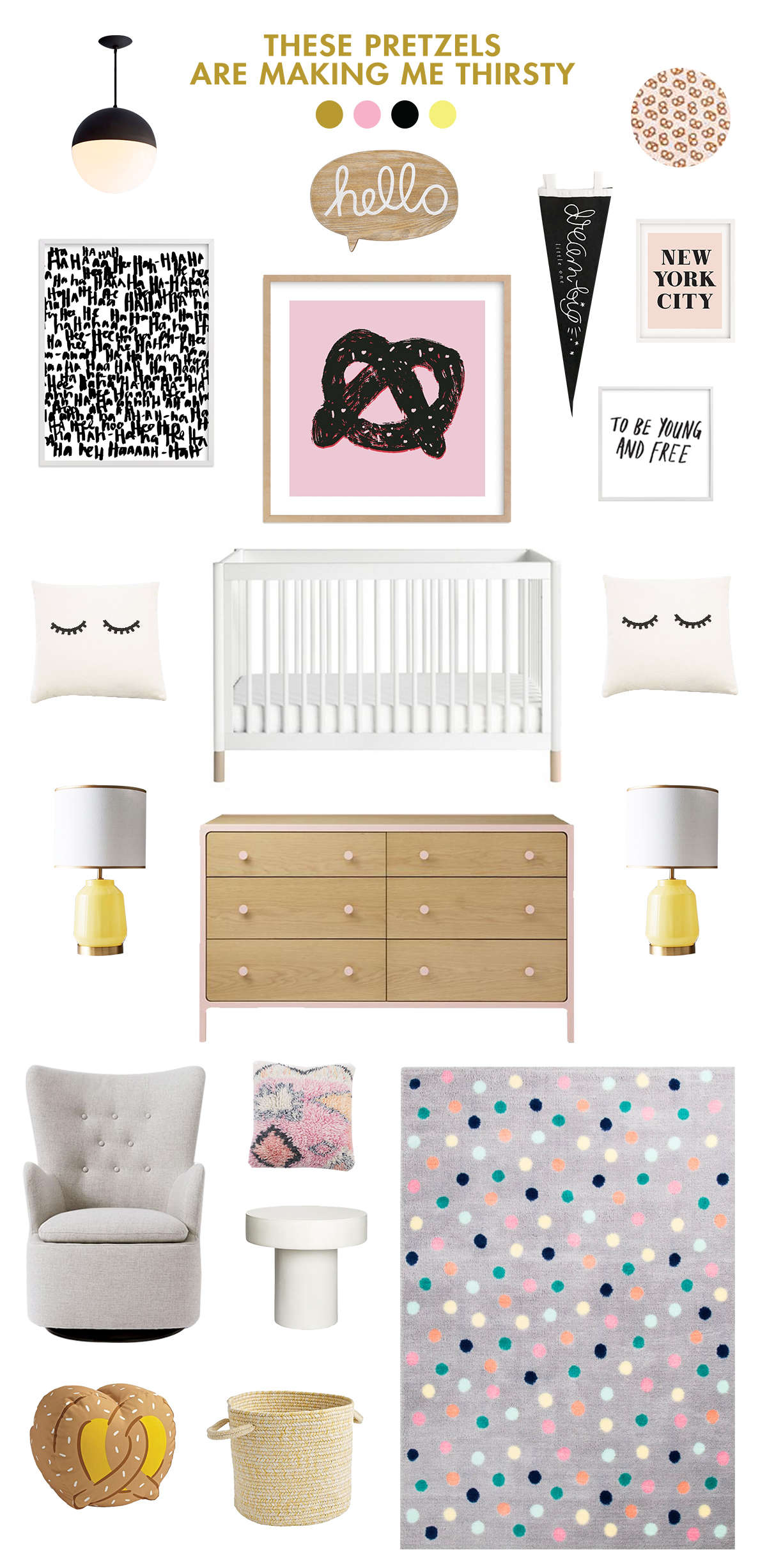 black and pink baby room ideas