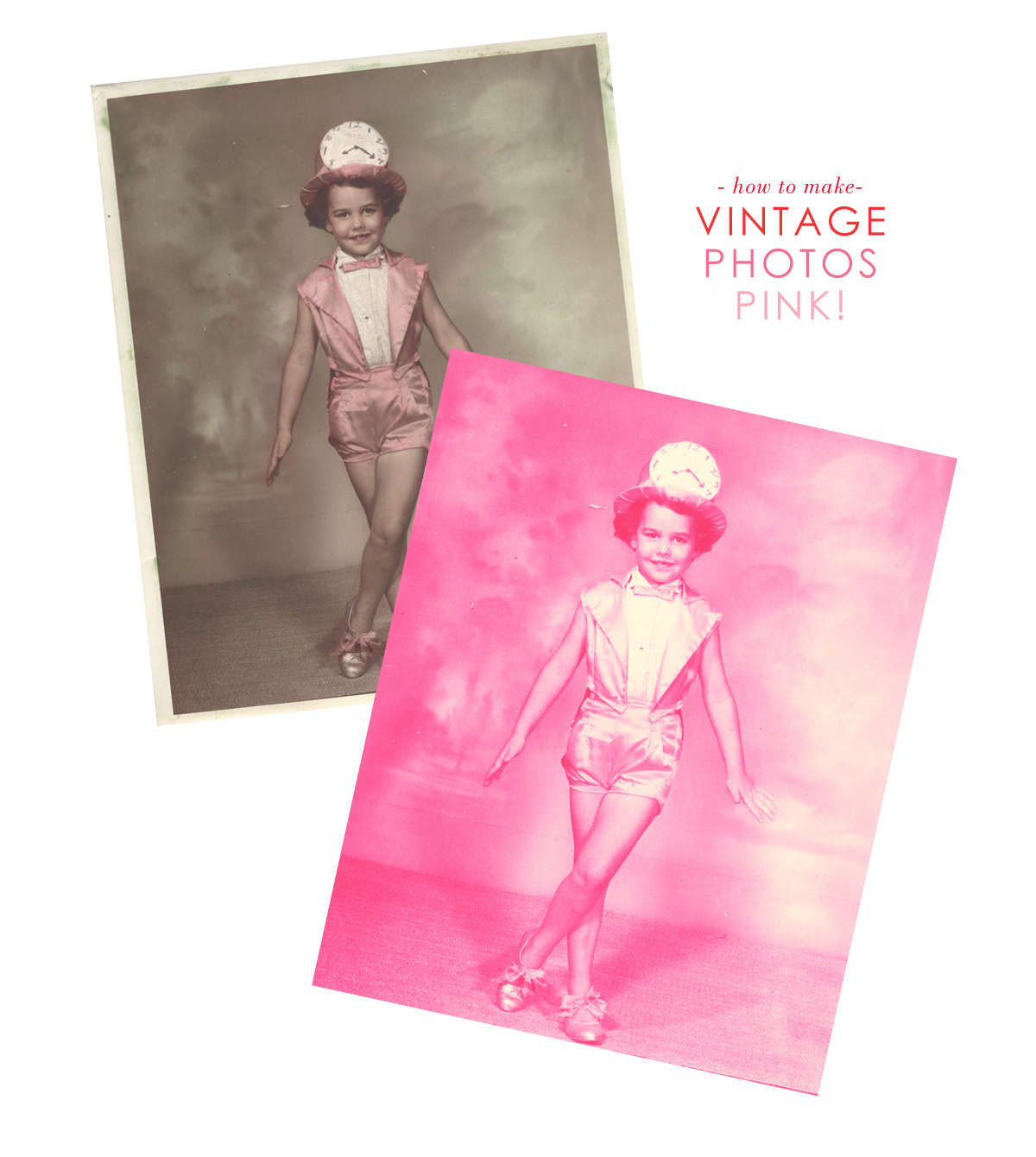 how to turn vintage photos pink