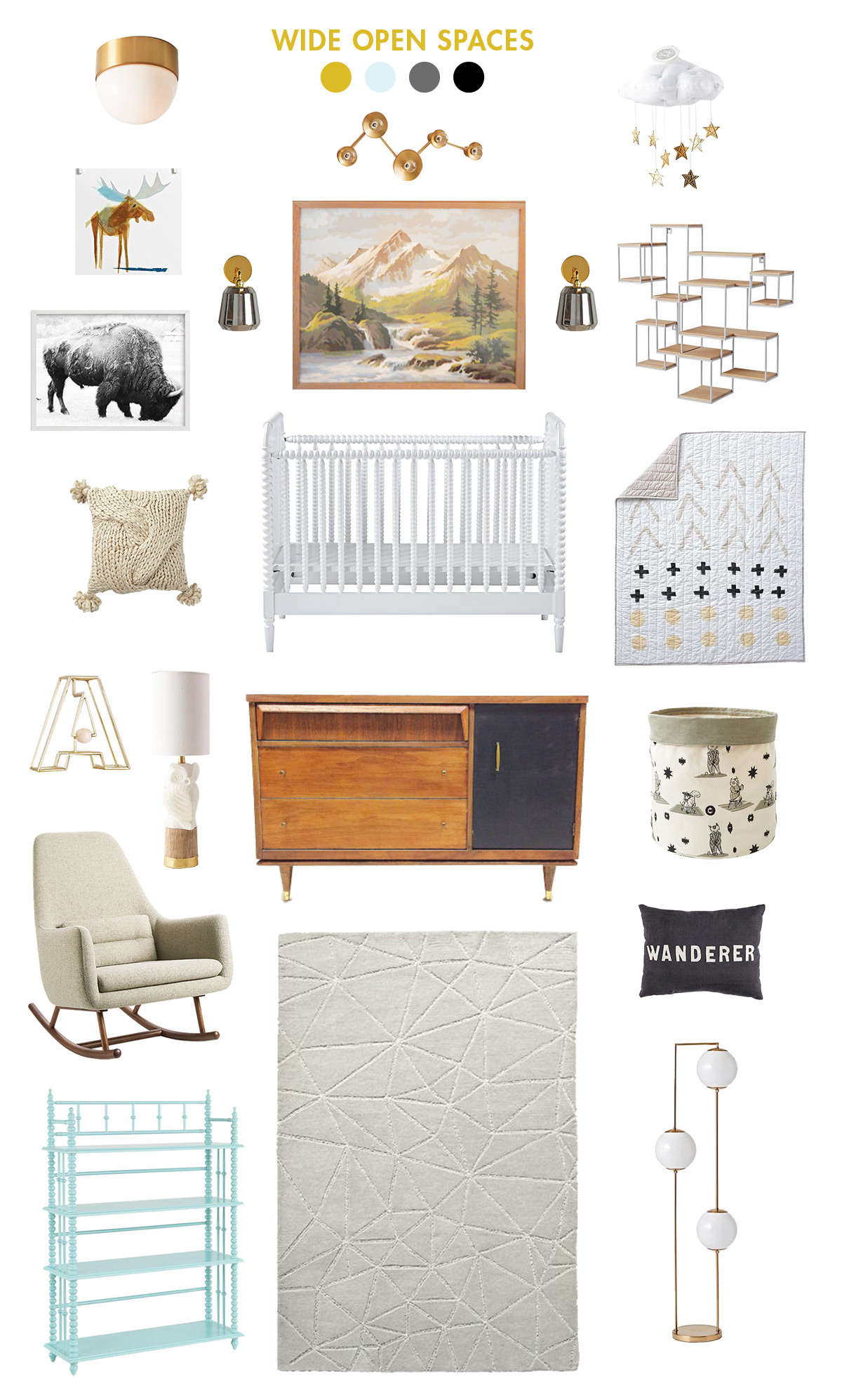 natural and neutral baby room inspiration