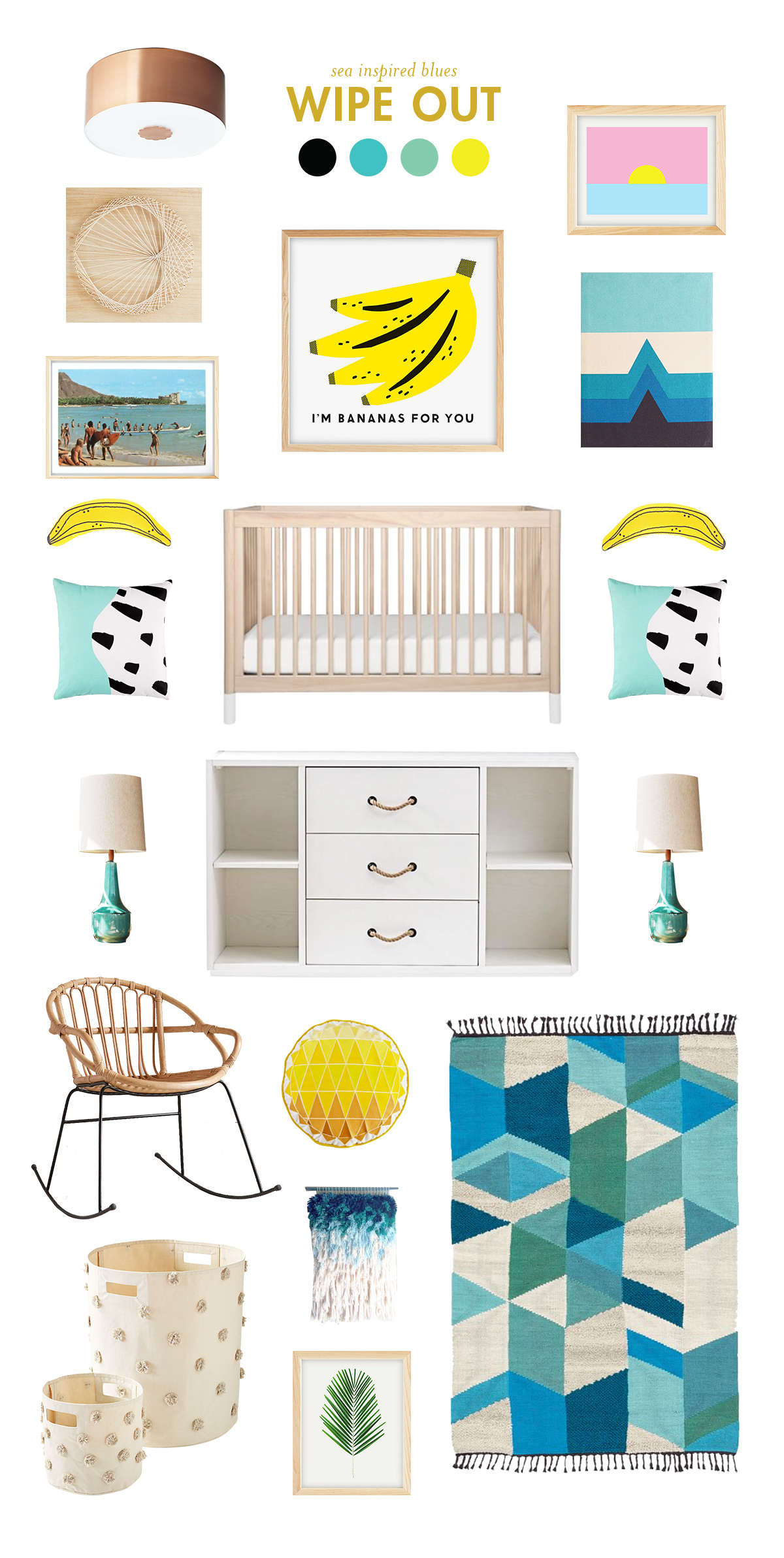Surfing baby room inspiration lay baby lay lay baby lay for Surf nursery ideas