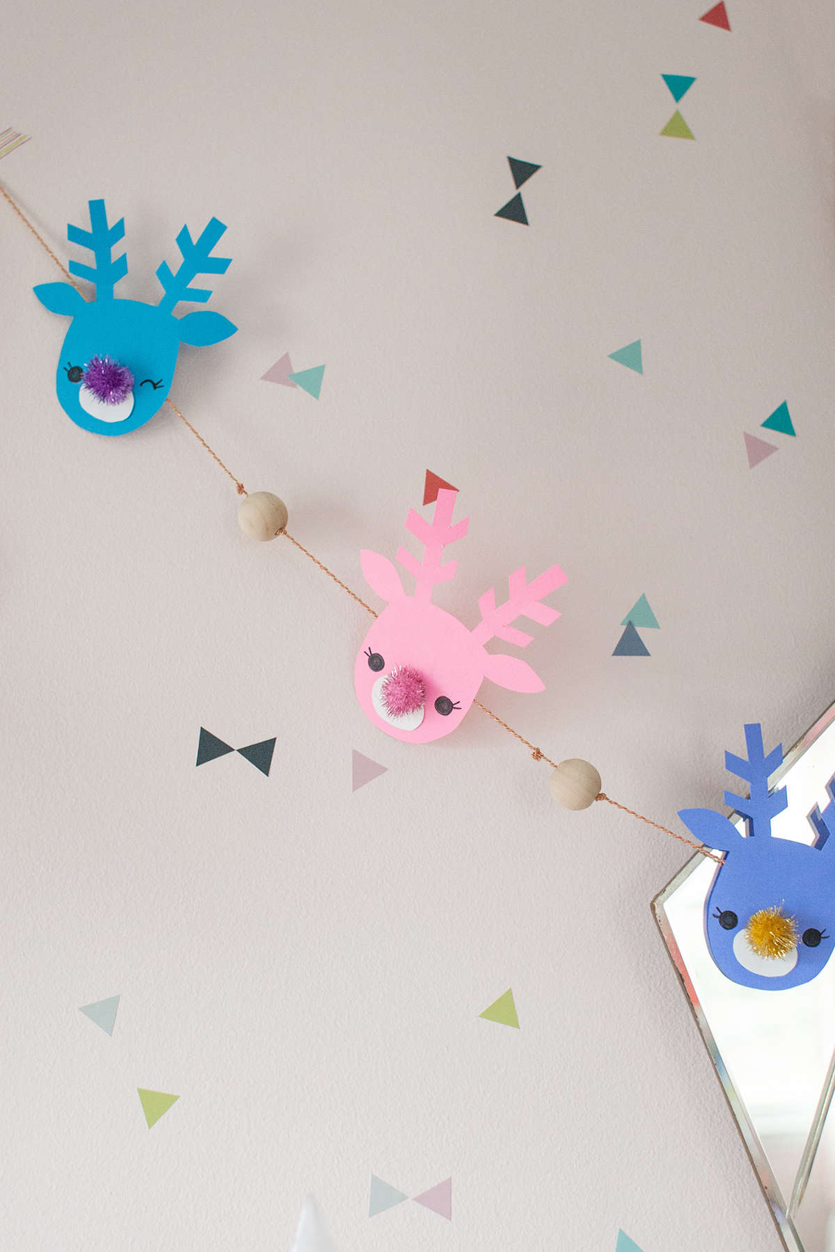 Diy Reindeer Garland With Astrobrights Lay Baby Lay Lay