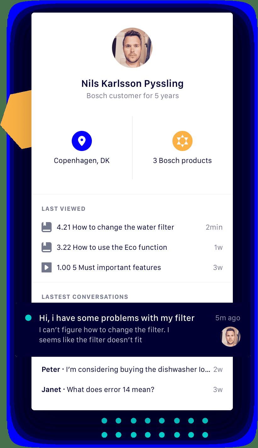 Interface customer