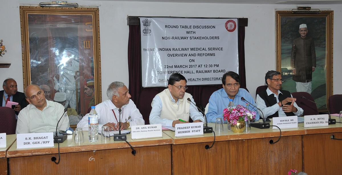 Hon'ble Minister of Railways Shri Suresh Prabhu addressing the conference