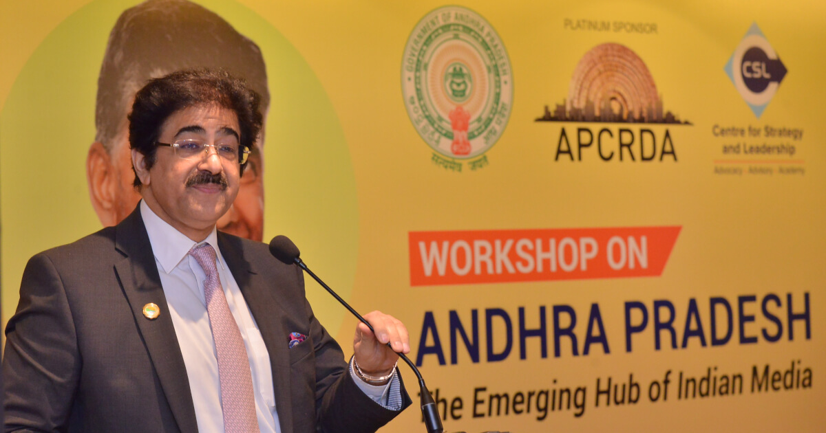 Shri Sandeep Marwah, Founder and Managing Director, Marwah Studios gave a passionate talk on why he might be the first to create the next film city in Amaravati