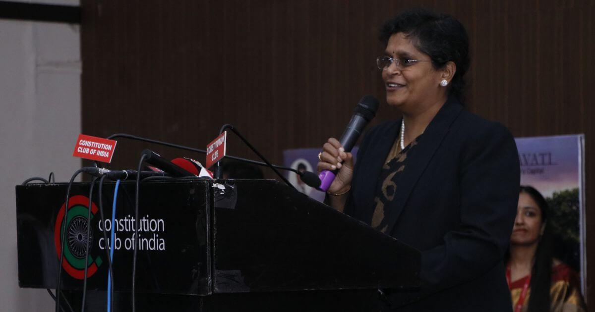 Justice Pratibha Singh gave her best wishes for Amaravati Justice City