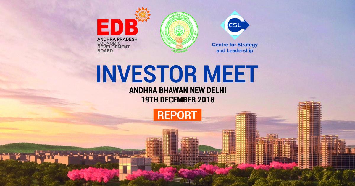 CSL organised an Investor Meet with AP Economic Development Board