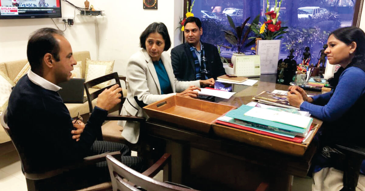 Ms. Manisha Malhotra (Head Sports) and Team, JSW Sports with Ms. Bhavna Saxena (IPS) Special Commissioner APEDB, Mr. Vikas Sharma, Director & Chief executive, CSL.