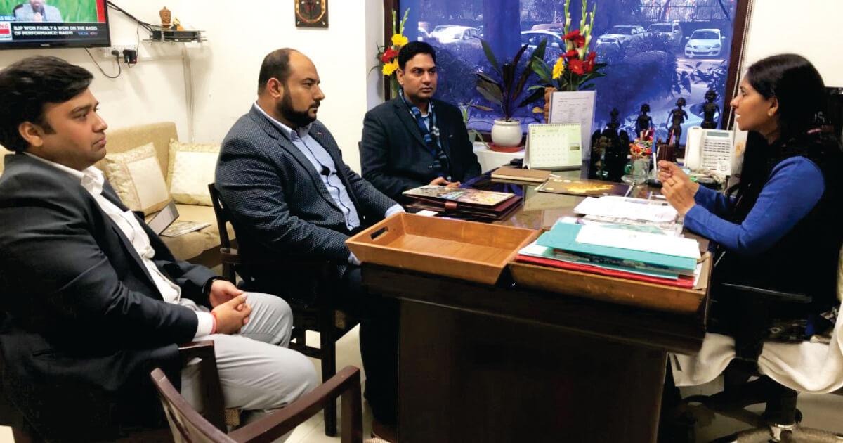 Mr. Pranav Sharma (Director) and Team, Investor Clinic with Ms. Bhavna Saxena (IPS) Special Commissioner APEDB, Mr. Vikas Sharma, Director & Chief executive, CSL.