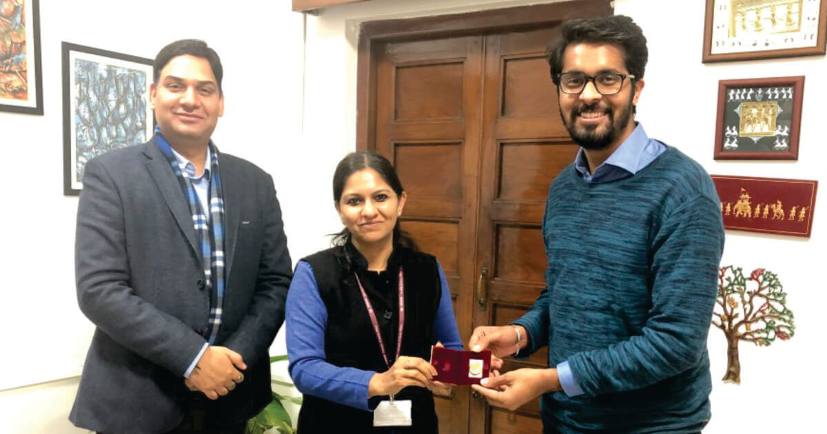 Mr. Akshay Chachra (Head Strategic Partnerships) Bhaichung Bhutia Football academy with Ms. Bhavna Saxena (IPS) Special Commissioner APEDB, Mr. Vikas Sharma, Director & Chief Executive, CSL.