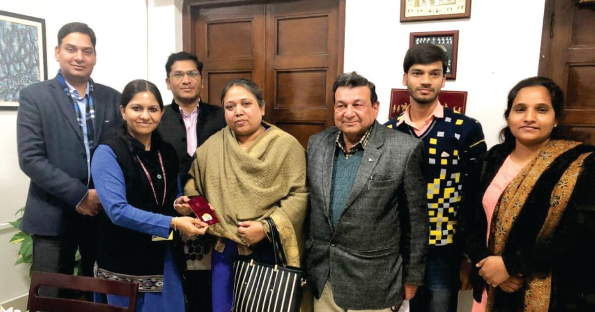 Ms. Leena Gupta (Director) & Team, Vishwakarma Univ with Ms. Bhavna Saxena (IPS) Spl Commissioner APEDB, Mr. Vikas Sharma, Director & Chief executive, CSL.