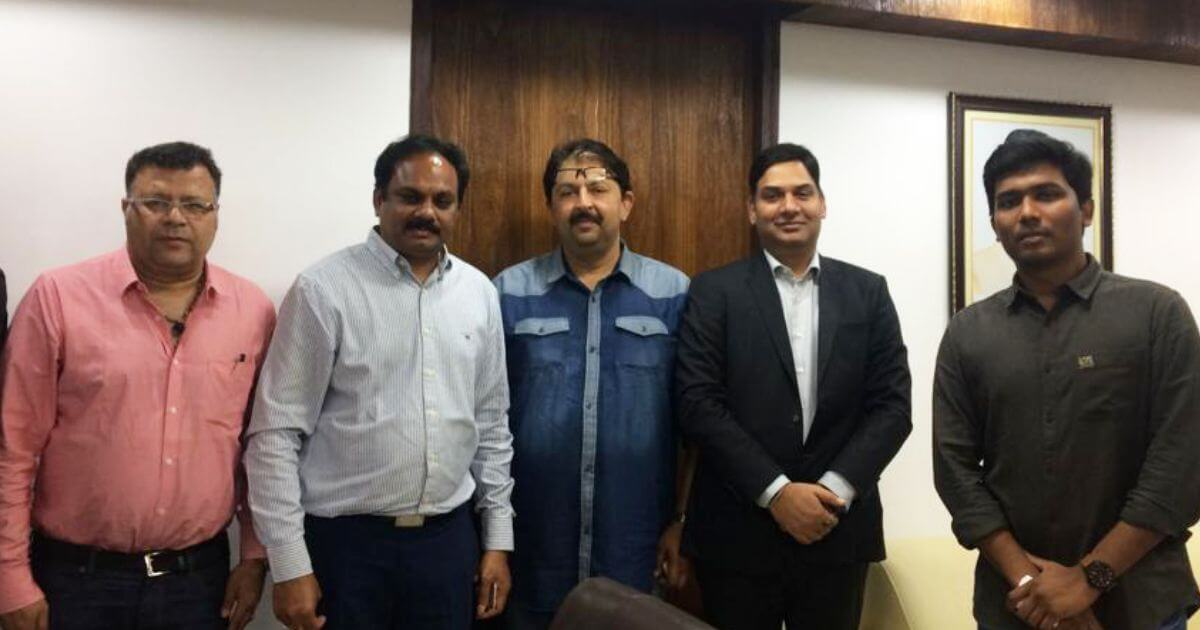 Dr. Sreedhar Cherukuri (IAS), Commissioner, APCRDA with the delegation