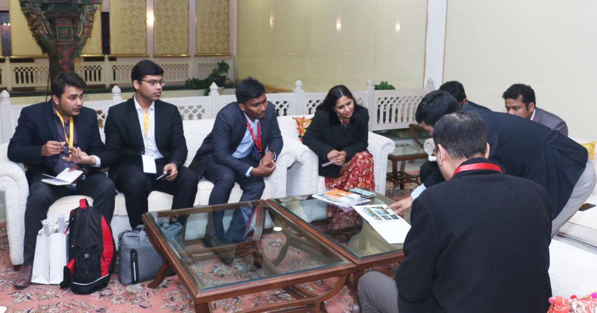 Mr. Abhinav Nautiyal, (VP) and Team, SIR Biotech India Limited with Ms. Bhavna Saxena (IPS) Special Commissioner APEDB, Mr. Vikas Sharma, Director & Chief executive, CSL. Mr. Himanshu Shukla, IAS, Director, Department of Tourism, and Mr. S Shaanmohan, Additional Commissioner, IAS, APCRDA