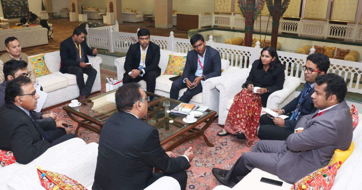 Mr. Davinder Kumar Anand, (Director) and Team, Rays Infra with Ms. Bhavna Saxena (IPS) Special Commissioner APEDB, Mr. Vikas Sharma, Director & Chief executive, CSL. Mr. Himanshu Shukla, IAS, Director, Department of Tourism, and Mr. S Shaanmohan, Additional Commissioner, IAS, APCRDA