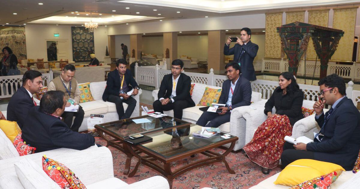Mr. Vijay Bhagatram, CEO and Team, Indian Golf Circuit with Ms. Bhavna Saxena (IPS) Special Commissioner APEDB, Mr. Vikas Sharma, Director & Chief executive, CSL. Mr. Himanshu Shukla, IAS, Director, Department of Tourism, and Mr. S Shaanmohan, Additional Commissioner, IAS, APCRDA
