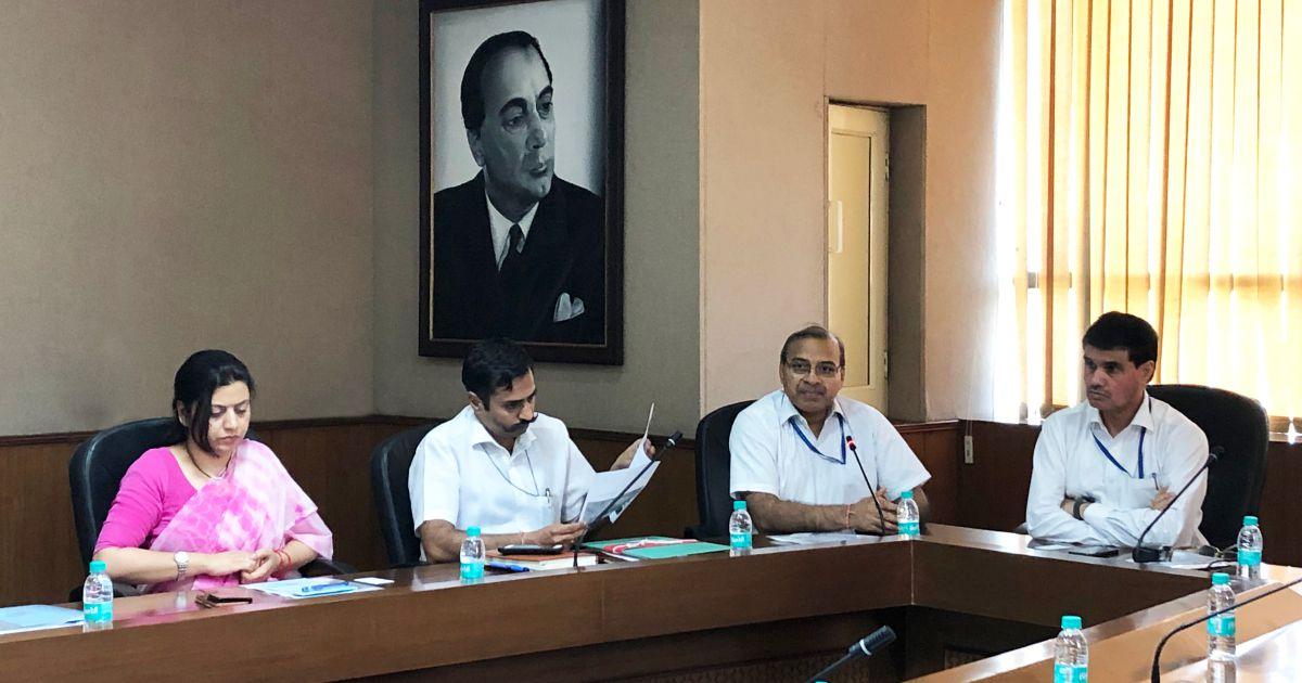 Right to Left – Dr. M.P. Poonia, Prof. Rajive Kumar, Lt. Col. Kailash Bansal and Dr. Neetu Bhagat