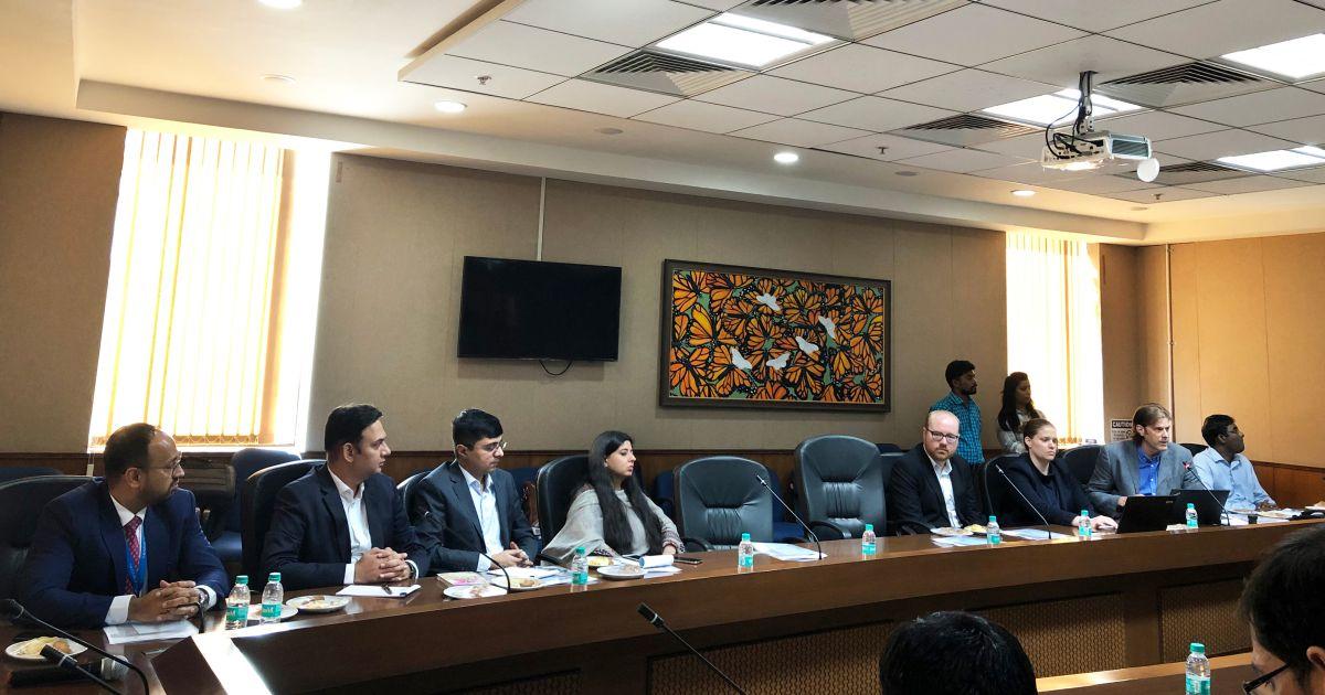 Left to Right – Mr. Avik Dutta, Mr. Vikas Sharma, Mr. Sumanto Mukherjee, Ms. Masha Mukherjee, Mr. Chris Banks, Ms. Stefanie Winkler and Mr. Andrew Rourke