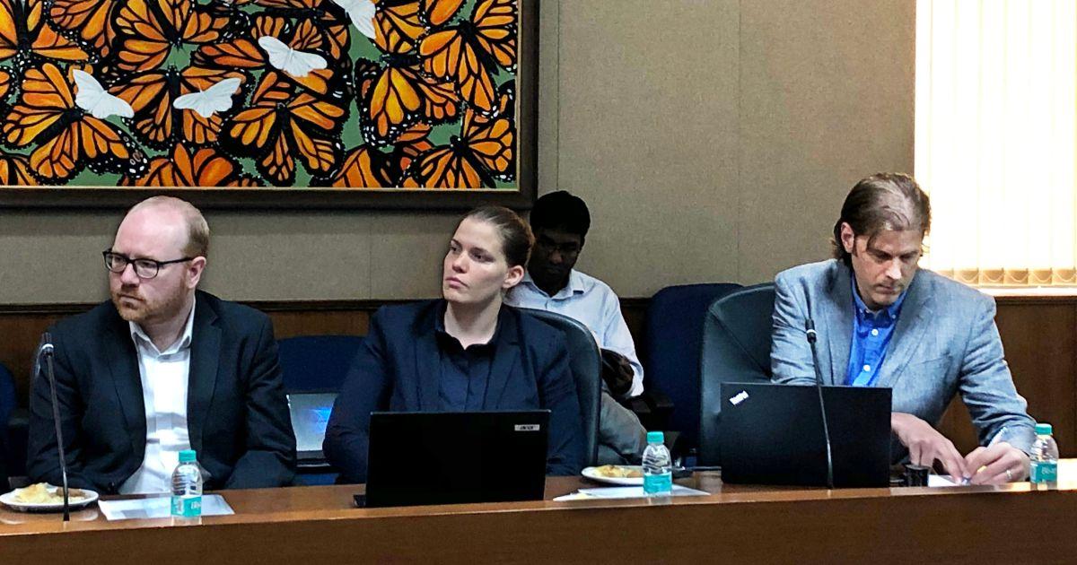 Team DigitalEd keenly following the proceedings