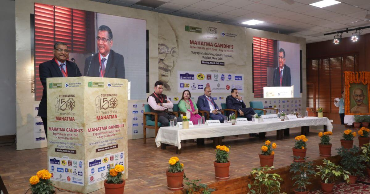 Shri A.K. Shrivastava, Executive Director, GAIL, talked about Gandhi ji's dietary and lifestyle habits
