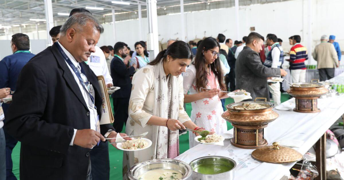 Lunch featuring several dishes inspired by Gandhi ji's recipes and teachings
