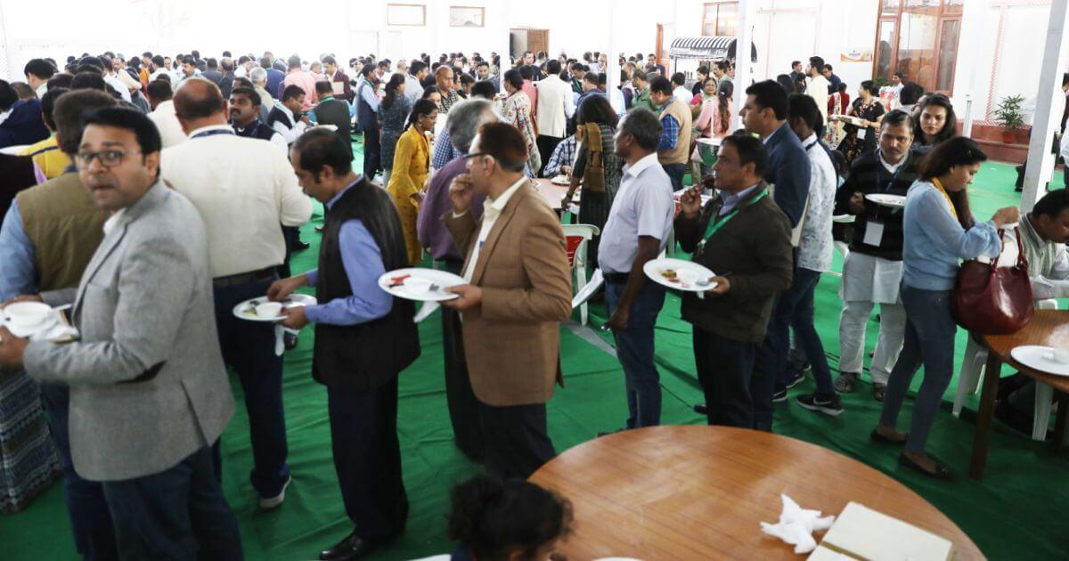 Delegates enjoying a scrumptious lunch
