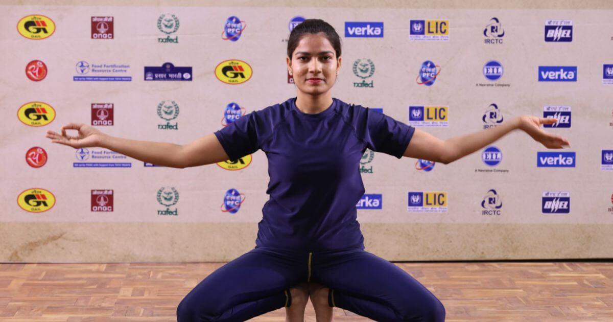 "Special yoga performance, ""Shiv Tandav Strotam"" by Ms. Jyoti of Blossom Yoga was a huge hit"