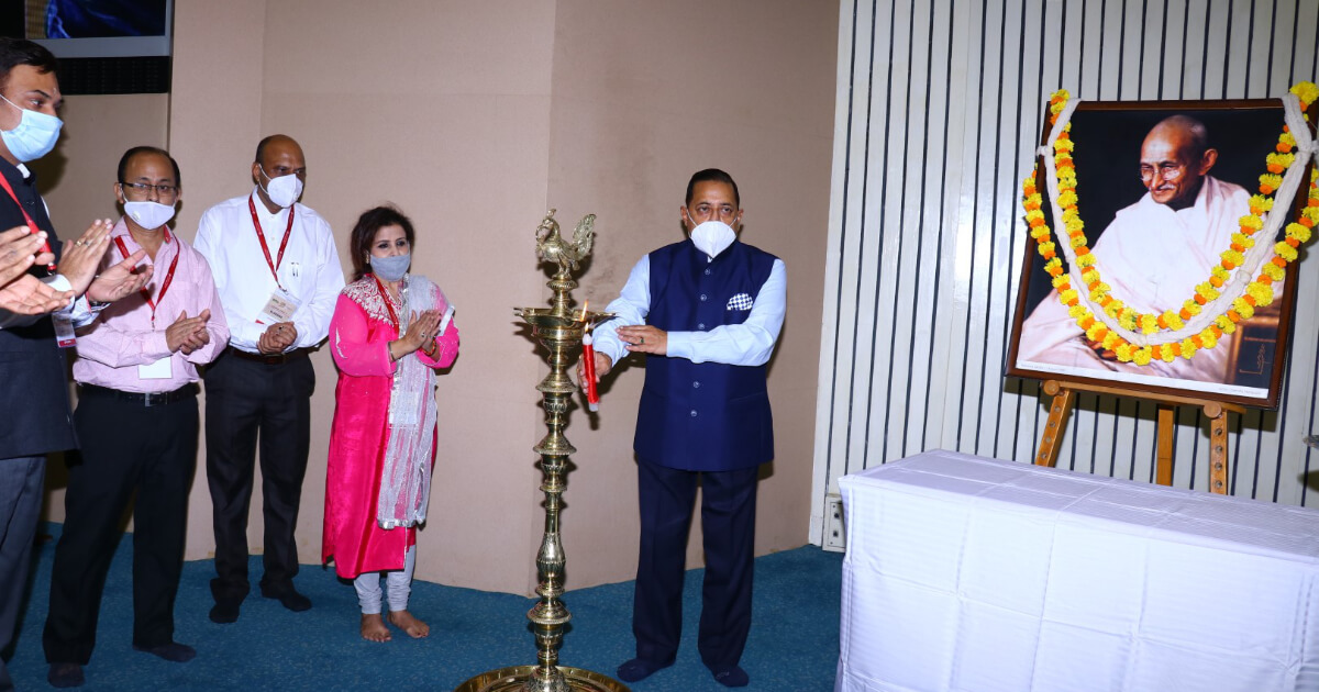 Chief guest Hon'ble Dr. Jitendra Singh lighting the ceremonial lamp