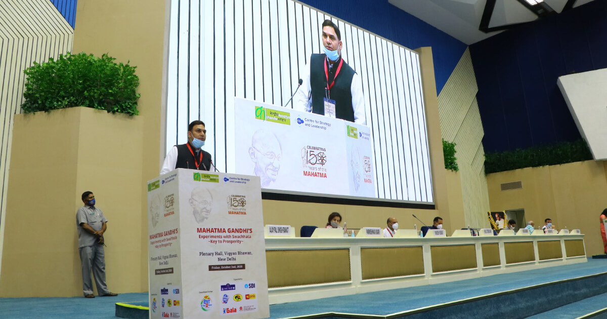 Shri Vikas Sharma, Director and Chief Executive, CSL, delivering his inaugural address