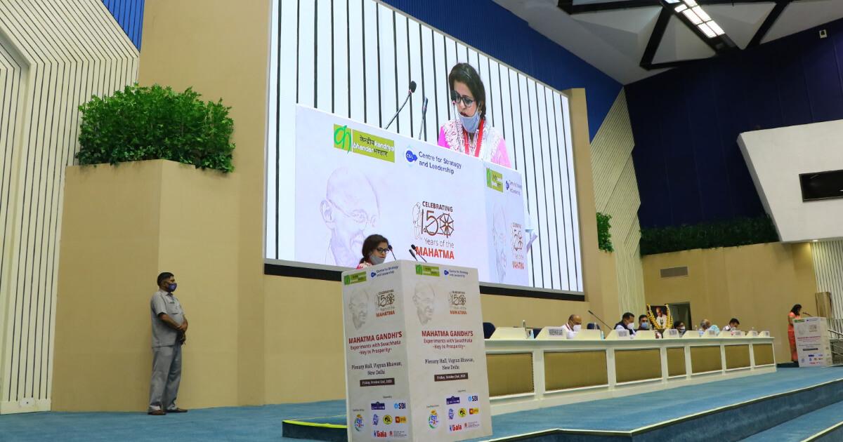 Smt Parmeshwari Bagri, Chairperson, Kendriya Bhandar, addressing the gathering