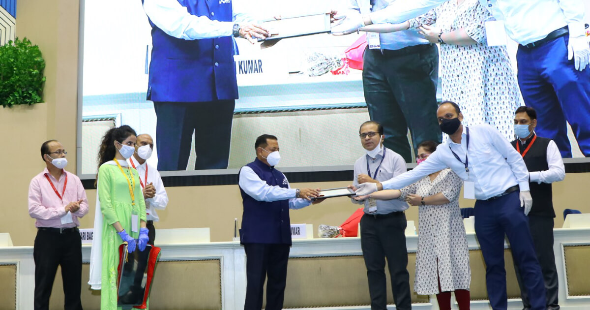 Team National Book Trust being felicitated by Chief guest Hon'ble Dr. Jitendra Singh