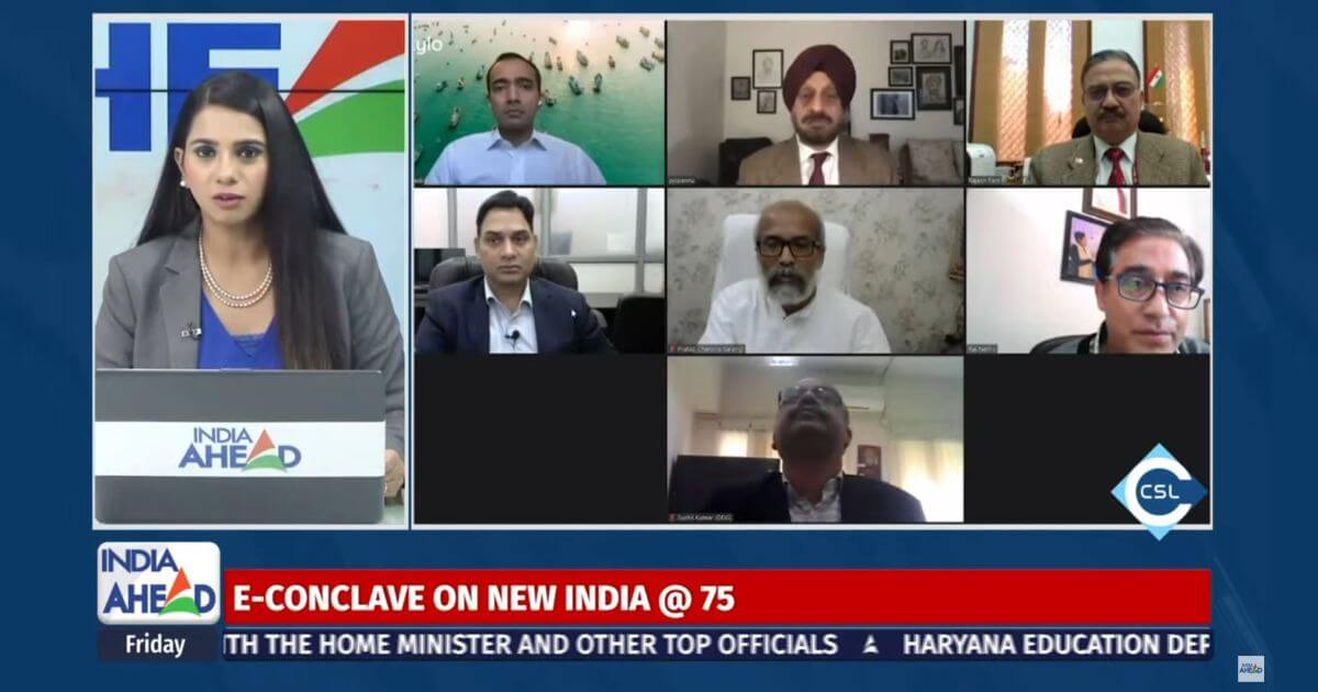"""New India @75 – IOT and the Changing Face of Fisheries Industry,"" held virtually on November 20, 2020 and telecast on India Ahead News."