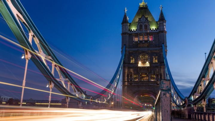 Tower Bridge - light trails