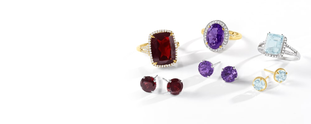 Birthstone Jewelry. Styles You Were Born To Wear. Image Featuring Birthstone Jewelry, Rings And Earrings