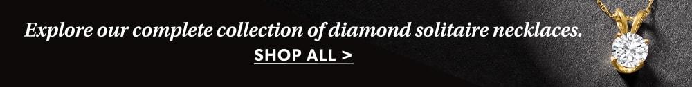 Shop All Diamond Solitaire Necklaces