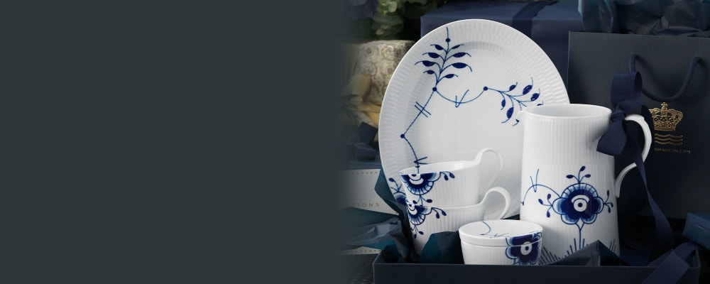 Royal Copenhagen. Fine Home Décor. Image Featuring Assorted Porcelain Dinnerwear