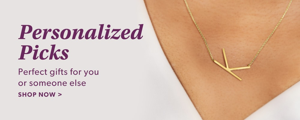 Personalized Picks. Perfect Gifts For You Or Someone Else. Shop Now. Image Featuring Model Wearing entitle necklace