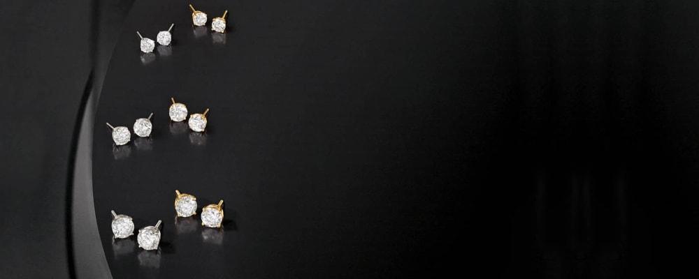 CZ Diamond Stud Earrings. Shop All