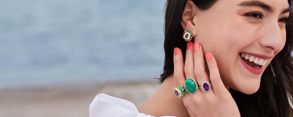 Gemstone Jewelry. Colorful Designs With Meaning. Image Featuring