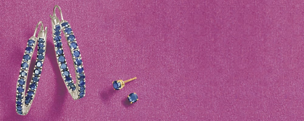 Sapphire Earrings Add a Spark of Blue