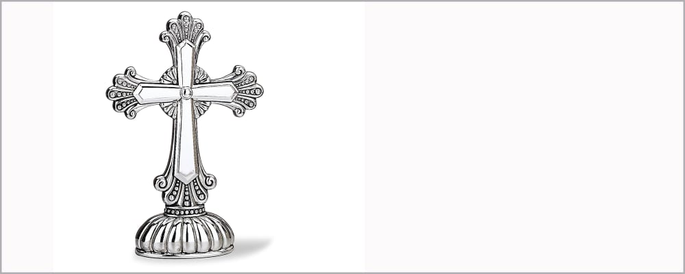 Religious Finds. Cherished Tokens of Faith. Image Featuring Gothic Cross