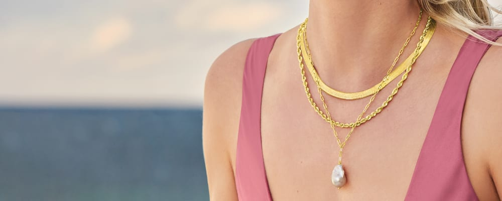 Necklaces drape yourself in divine finds. Image Featuring