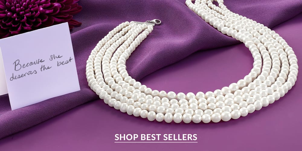 Because she deserves the best. Shop best sellers. Image of five-stand pearl necklace.
