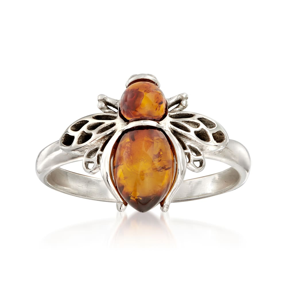 Sterling Silver Jewelry set with Genuine Amber  Silver Earrings  Silver Ring  Silver Bracelet  Rose Gold over Sterling Silver  Mother