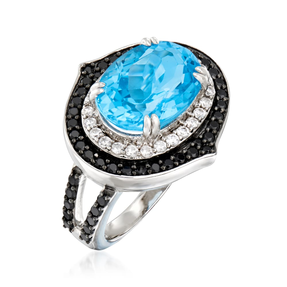6.75 carats of Dark Blue Spinel in Sterling Silver