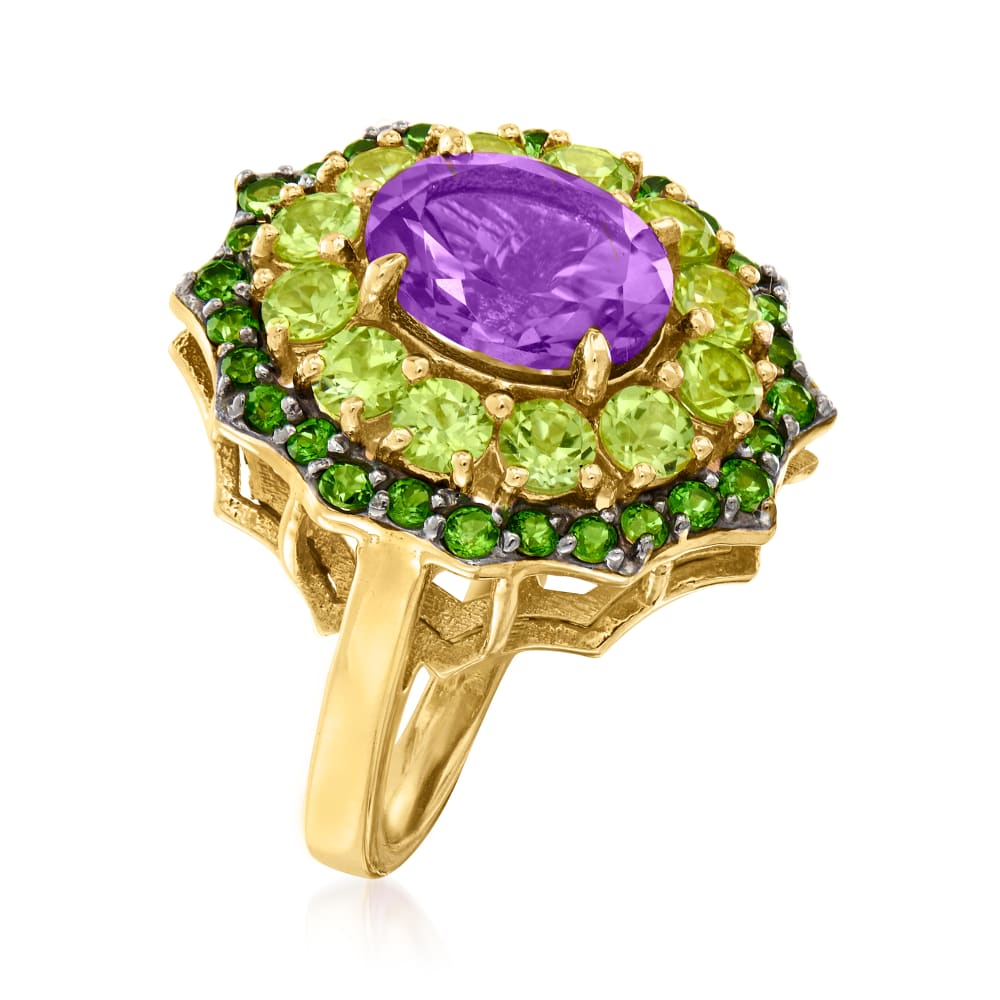 Details about  /Chrome Diopside 1.41 Ct Gemstone Oval Shape 14k White Gold Ring for Women