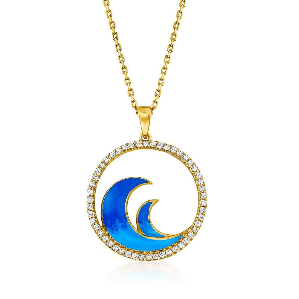 Blue Wave Diamond Necklace