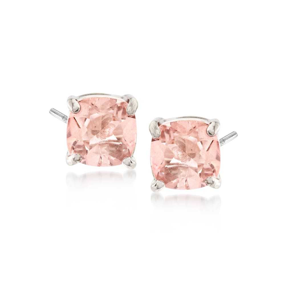 Subtle Pink Dangle Stud Earrings