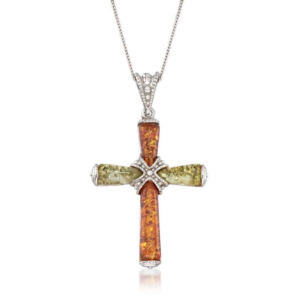 Amber Cross Pendant Amber And Silver Cross Amber Jewelry Cognac Amber Cross Amber Cross Amber Jewellery Amber Pendant Cross