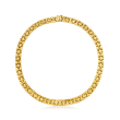 14kt Yellow Gold Basketweave Stampato Necklace