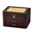 Bubinga Wood and Burlwood Veneer Locking Jewelry Box