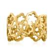 14kt Yellow Gold Openwork Flower Ring